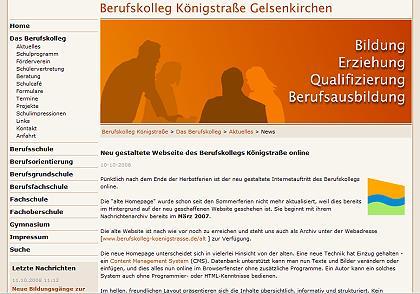 Screenshot Website berufskolleg Königstr. GE
